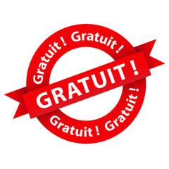 """Tampon Publicitaire """"GRATUIT!"""" (marketing publicité soldes prix)"""