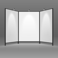Blank trade show booth