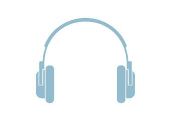 Headphones icon on white background