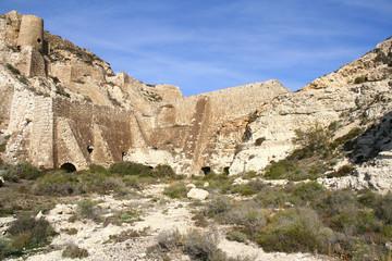 vestiges des mines de fer à Agua Amarga