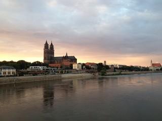 Magdeburg Dom Sonnenuntergang