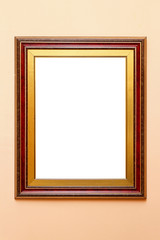 Frame red gold