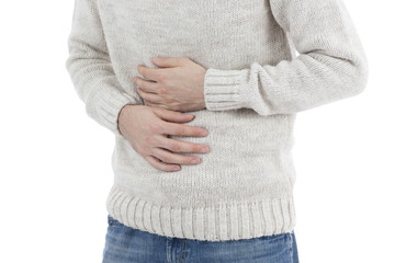 Man in stomach pain