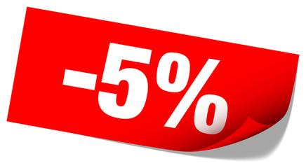 "Sticker Tag ""Sale"" -5%"
