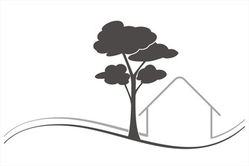 Home , architecture , tree, business logo design
