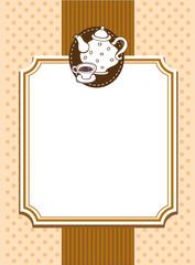 Ornate menu cover