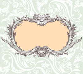 Vintage decorative vector frame