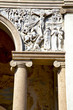 wall milan  in italy old   church concrete wall  doric jesus sta