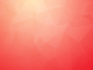 modern bright red triangular transition