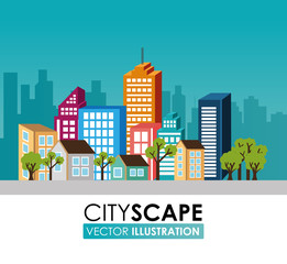 Urban design, vector illustration.