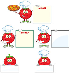 Red Tomato Character Different Interactive Poses 2. Collection