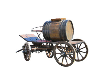 a water tank on the cart