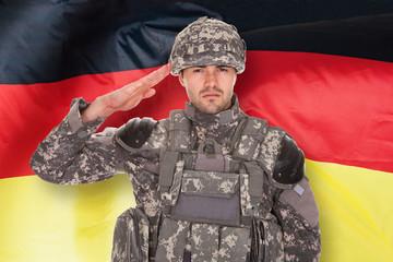 German Soldier Saluting