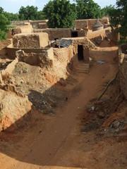 Pueblo africano de adobe