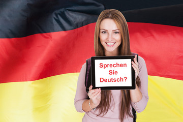 Woman Asking Do You Speak German