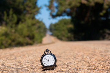 Pocket watch on the road
