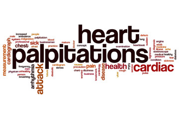 Heart palpitations word cloud