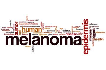 Melanoma word cloud