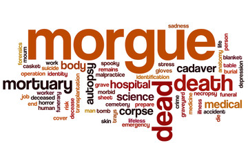 Morgue word cloud