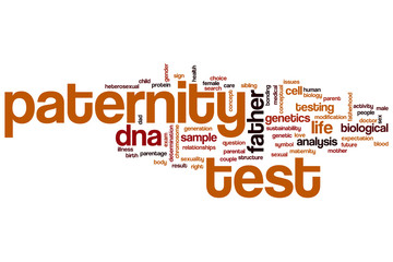 Paternity test word cloud