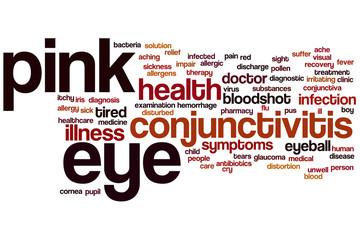 Pink eye word cloud