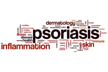 Psoriasis word cloud