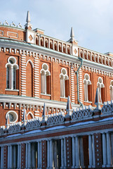 View of Tsaritsyno park in Moscow