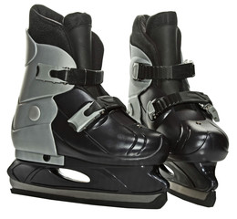 pair of skates for hockey isolated
