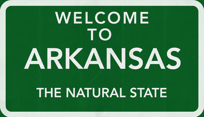 Welcome to Arkansas USA Road Sign