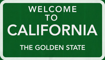 Welcome to California USA Road Sign