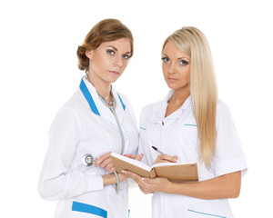 Two female doctors.