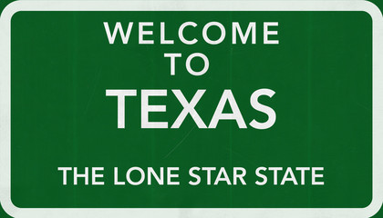 Welcome to Texas USA Road Sign