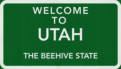 Welcome to Utah USA Road Sign