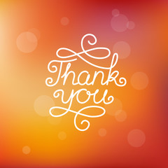 Vector hand-lettering thank you