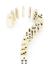 Question Mark From Domino