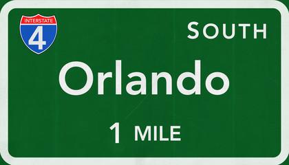 Orlando Interstate Highway Sign
