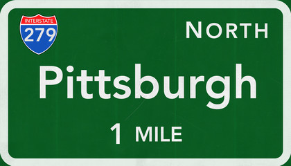 Pittsburgh Interstate Highway Sign