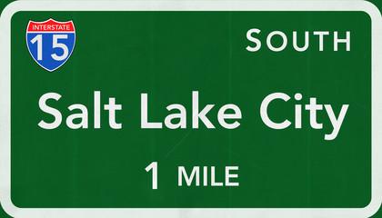 Salt Lake City Interstate Highway Sign