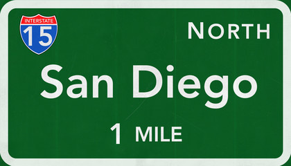 San Diego Interstate Highway Sign
