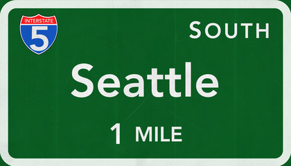 Seattle Interstate Highway Sign