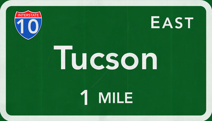 Tucson Interstate Highway Sign