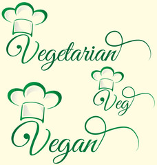 vegetarian and veg symbol