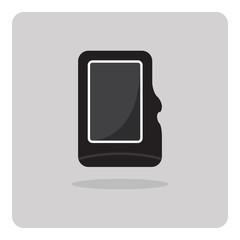 Vector of flat icon, compact memory card on isolated background