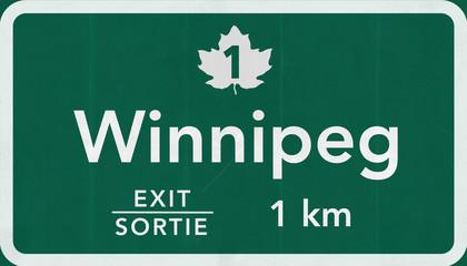 Winnipeg Canada Transcanada Highway Road Sign