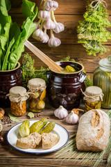 Winter supplies in rural pantry