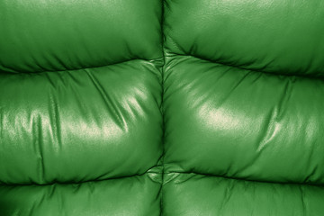 Green Texture of Sofa Leather Background