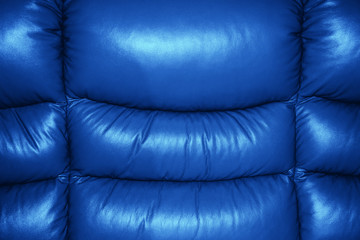 Blue Texture of Sofa Leather Background