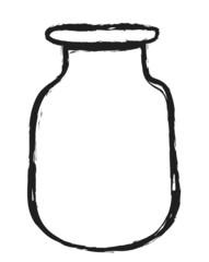 doodle blank glass jar, illustration design element