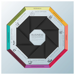 Modern Business Infographic Octagon Propeller Origami Style
