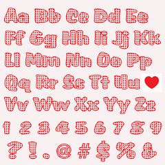 White Letters with Red Hearts